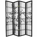 Bamboo Sunrise Japanese Shoji Screen (Black Finish) thumbnail 1