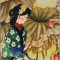 Flute Player Chinese Scroll thumbnail 1