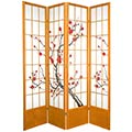 "84"" Japanese Cherry Blossom Screen (Honey Finish) thumbnail 1"