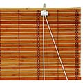 Burnt Bamboo Roll Up Blinds - Two-tone Honey thumbnail 1