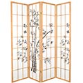 6 ft. Tall Lucky Bamboo Room Divider (Natural Finish) thumbnail 1