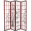 6 ft. Tall Lucky Bamboo Room Divider (Rosewood Finish) thumbnail 1