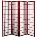 5 ft. Tall Japanese Window Screen (Rosewood Finish) thumbnail 1