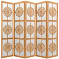 Chinese Taoist Screen (Natural Finish) thumbnail 2