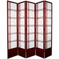 "84"" Bamboo Sunrise Shoji Screen (Rosewood Finish) thumbnail 2"