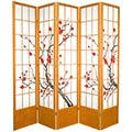"84"" Japanese Cherry Blossom Screen (Honey Finish) thumbnail 2"
