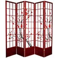 "84"" Japanese Cherry Blossom Screen (Rosewood Finish) thumbnail 2"