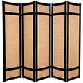 6 ft. Tall Jute Shoji Screen (Black) thumbnail 2