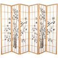 6 ft. Tall Lucky Bamboo Room Divider (Natural Finish) thumbnail 2