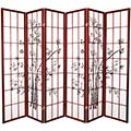 6 ft. Tall Lucky Bamboo Room Divider (Rosewood Finish) thumbnail 2