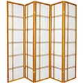 6 ft. Tall Double Cross Shoji Screen (Honey Finish) thumbnail 2