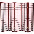 5 ft. Tall Japanese Window Screen (Rosewood Finish) thumbnail 2