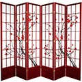 "84"" Japanese Cherry Blossom Screen (Rosewood Finish) thumbnail 3"