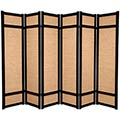 6 ft. Tall Jute Shoji Screen (Black) thumbnail 3