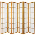 6 ft. Tall Double Cross Shoji Screen (Honey Finish) thumbnail 3