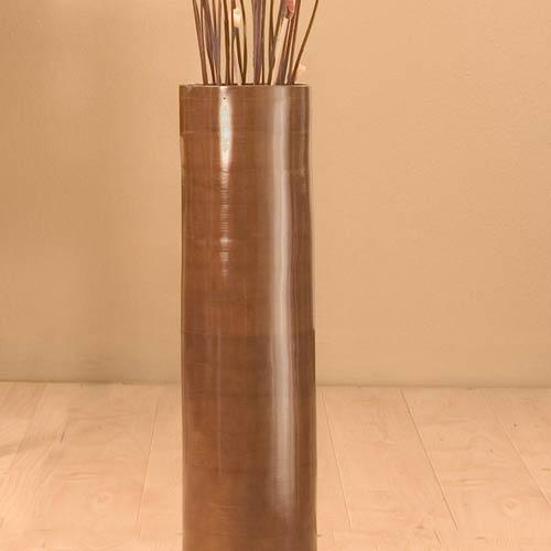 Decorative Vases 25 Quot Brown Bamboo Cylinder Floor Vase