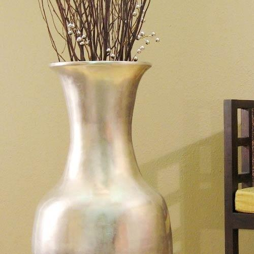 Large floor vases 36 natural silver leaf large floor vase Large floor vases cheap