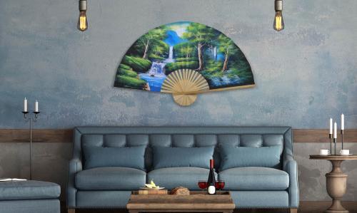 Oriental Wall Fans Asian Forest