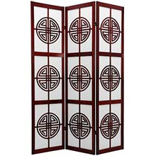 Chinese Taoist Screen (Rosewood Finish)