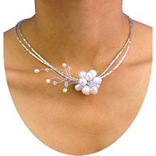 Floral Elegance -- White Pearls