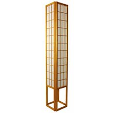 6 Foot Japanese Tower Lamp (Honey Finish)