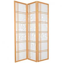 Bamboo Sunrise Japanese Shoji Screen (Natural Finish)