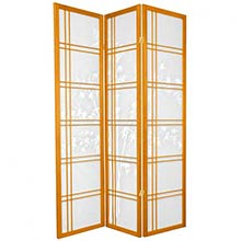 Bamboo Sunrise Japanese Shoji Screen (Honey Finish)