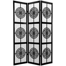 Chinese Taoist Screen (Black Finish)