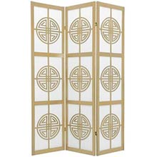 Chinese Taoist Screen (Natural Finish)