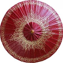 Oxblood Traditional Thai Umbrella