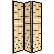 Double Side Koji Japanese Shoji Screen (Black Finish)