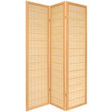 Double Side Koji Japanese Shoji Screen (Natural Finish)