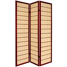 Double Side Koji Japanese Shoji Screen (Rosewood Finish)