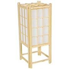"18"" Window Pane Japanese Lamp (Natural Finish)"