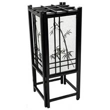 Bamboo Chinese Lamp (Black Finish)
