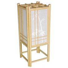 Bamboo Chinese Lamp (Natural Finish)