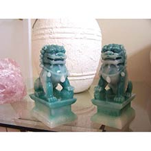 Jade Color Foo Dogs (Medium Size)