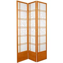 "84"" Bamboo Sunrise Shoji Screen (Honey Finish)"