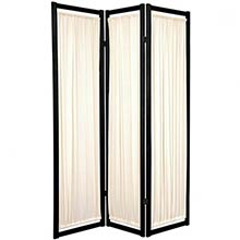 Fabric Shoji Screen (Black Finish)