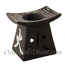 Black Chinese Character Burner