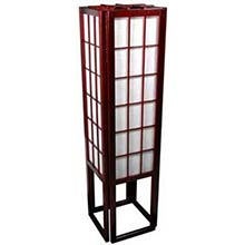 "45"" Window Pane Japanese Lamp (Rosewood Finish)"