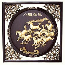 "22.5"" Galloping Chinese Stallions"