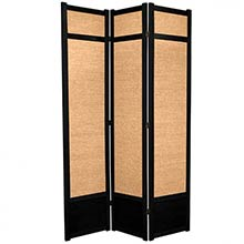 "84"" Jute Screen (Black Finish)"