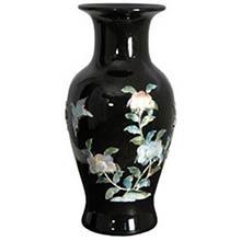 Black Fishtail Vase