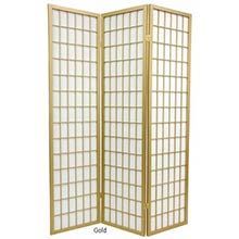 Gold Japanese Window Screen
