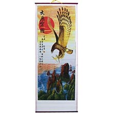 Red Sun Eagle Chinese Scroll