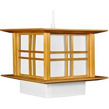 "8"" Akida Hanging Lamp - Honey"