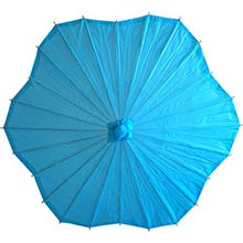 Scalloped Aqua Parasol