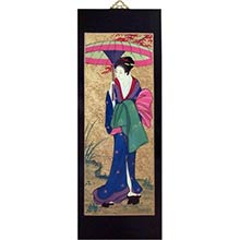 "31.5"" Japanese Woman with Parasol"
