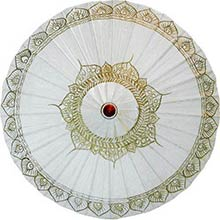 White Traditional Thai Umbrella